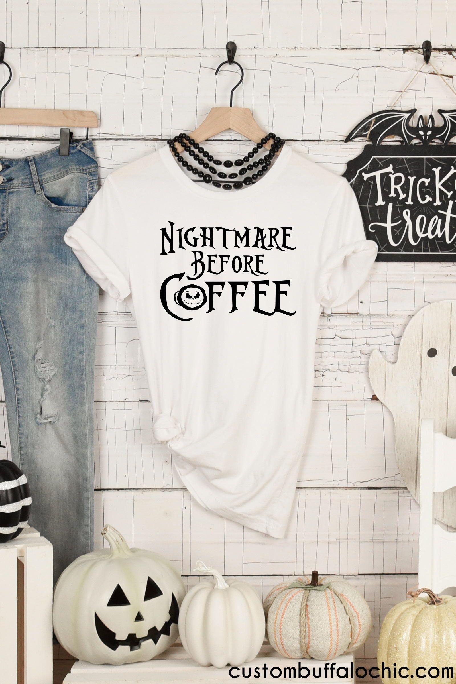 Jack Skellington Nightmare before Coffee Halloween Shirt ...