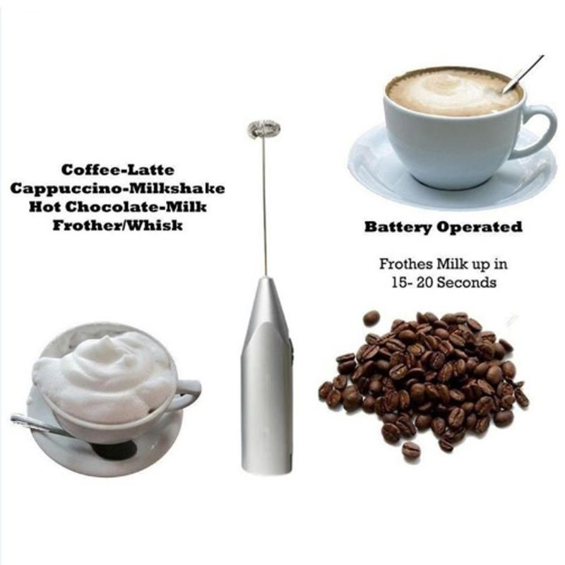 Mini Electric Battery Powered Whisk Coffee Milk Mixer Stirrer Frother Egg Beater