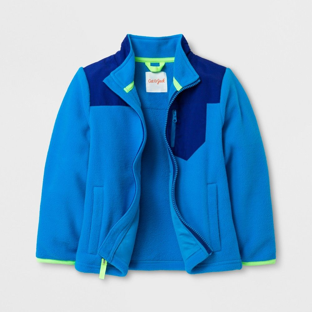 Toddler boysu fleece jacket cat u jack blue t products