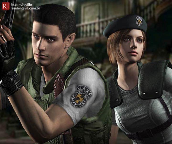Resident Evil Chris Redfield And Jill Valentine Resident Evil