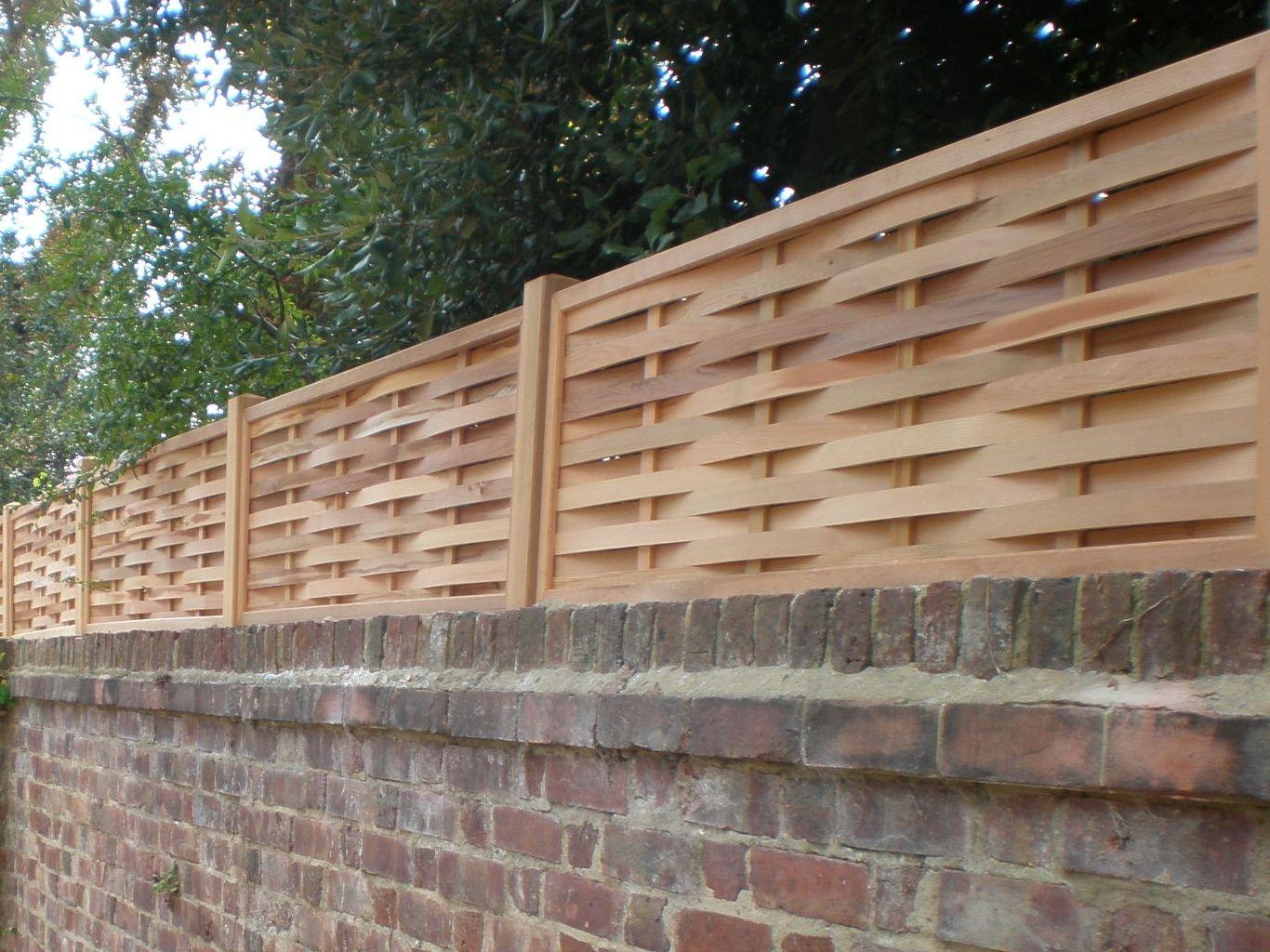 Print Of Wall Fence Panels Appliance Exteriors Garden Wall