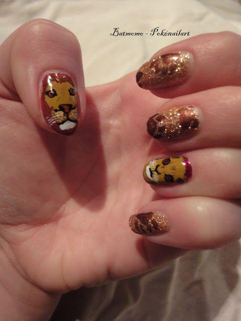 Lion Nail Art Nails Pinterest