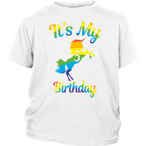 7a3c862df Children Magical It's my 5th Birthday unicorns rainbows 5 Years Old T-shirts  -Gifts for and from  Men,Women,Kids,Boys,Girls,Youth,moms,dads,grandpa,grandma.