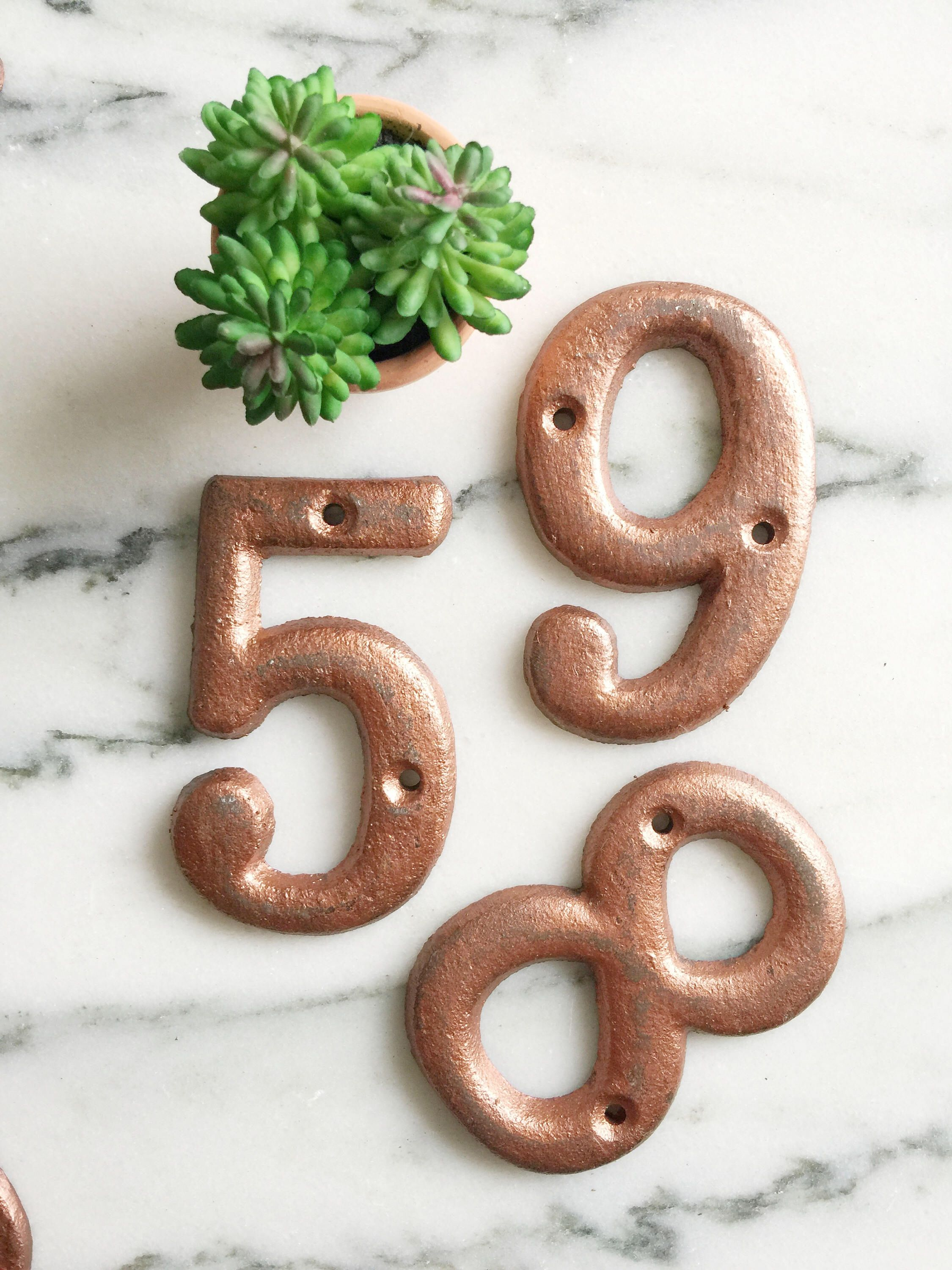 Shop house numbers 0123456789 mailbox numbers address numbers front porch numbers outdoor housewares castiron moving gardendecor