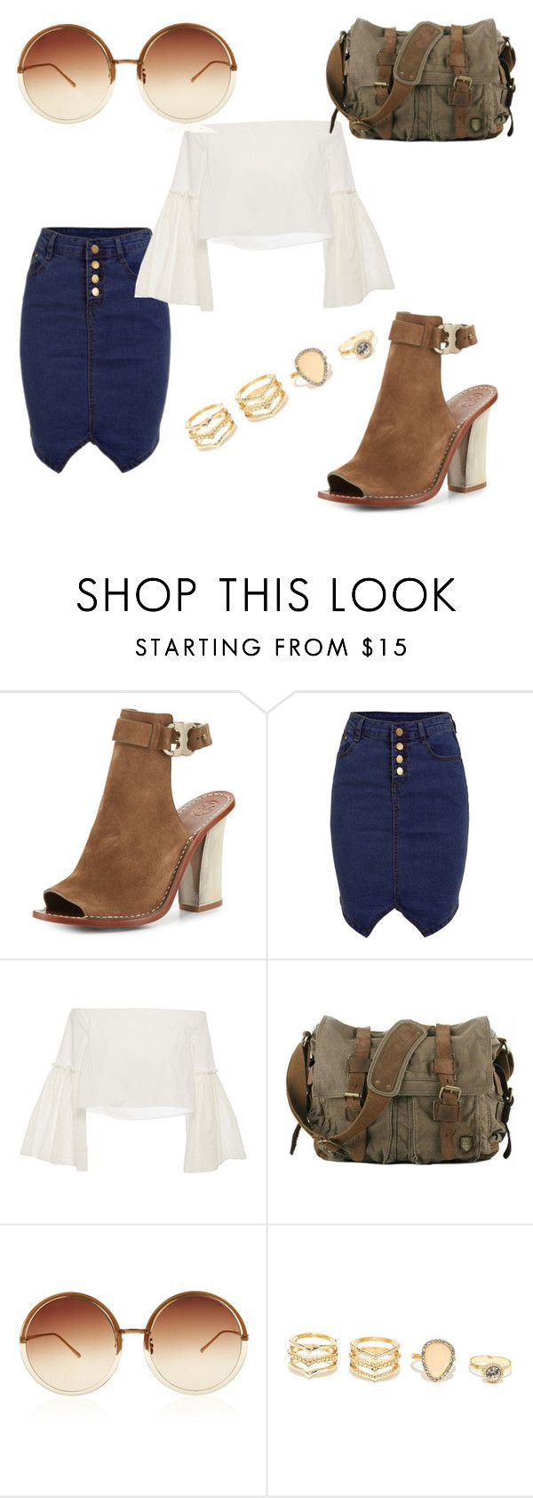 """those shoes"" by jjbear on Polyvore featuring Tory Burch, Rosetta Getty, Linda Farrow and LULUS"