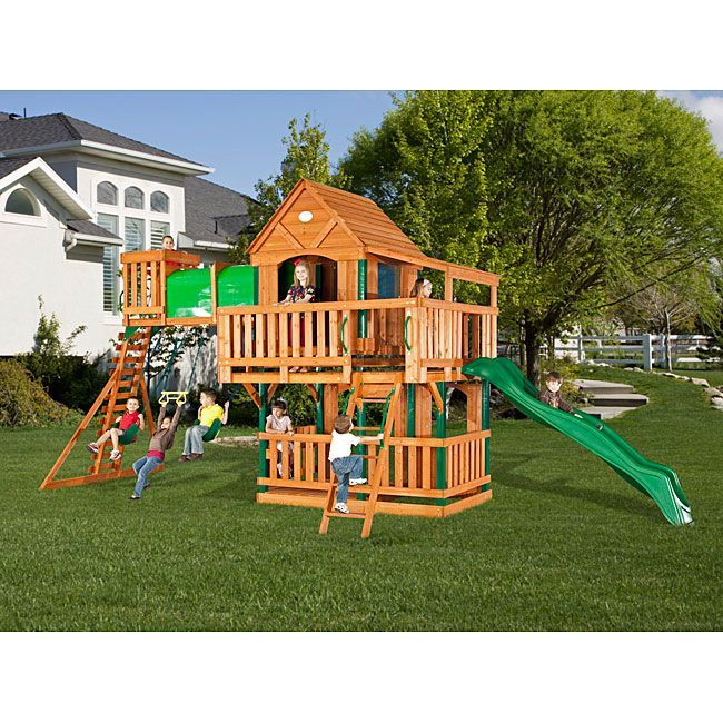 Backyard Discovery Woodridge Ii Swingset Free Shipping Backyard