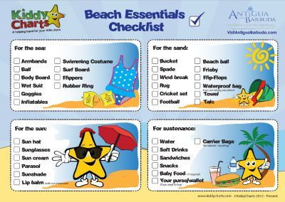 Free Beach Essentials Checklist Get Your Kids Helping To Pack