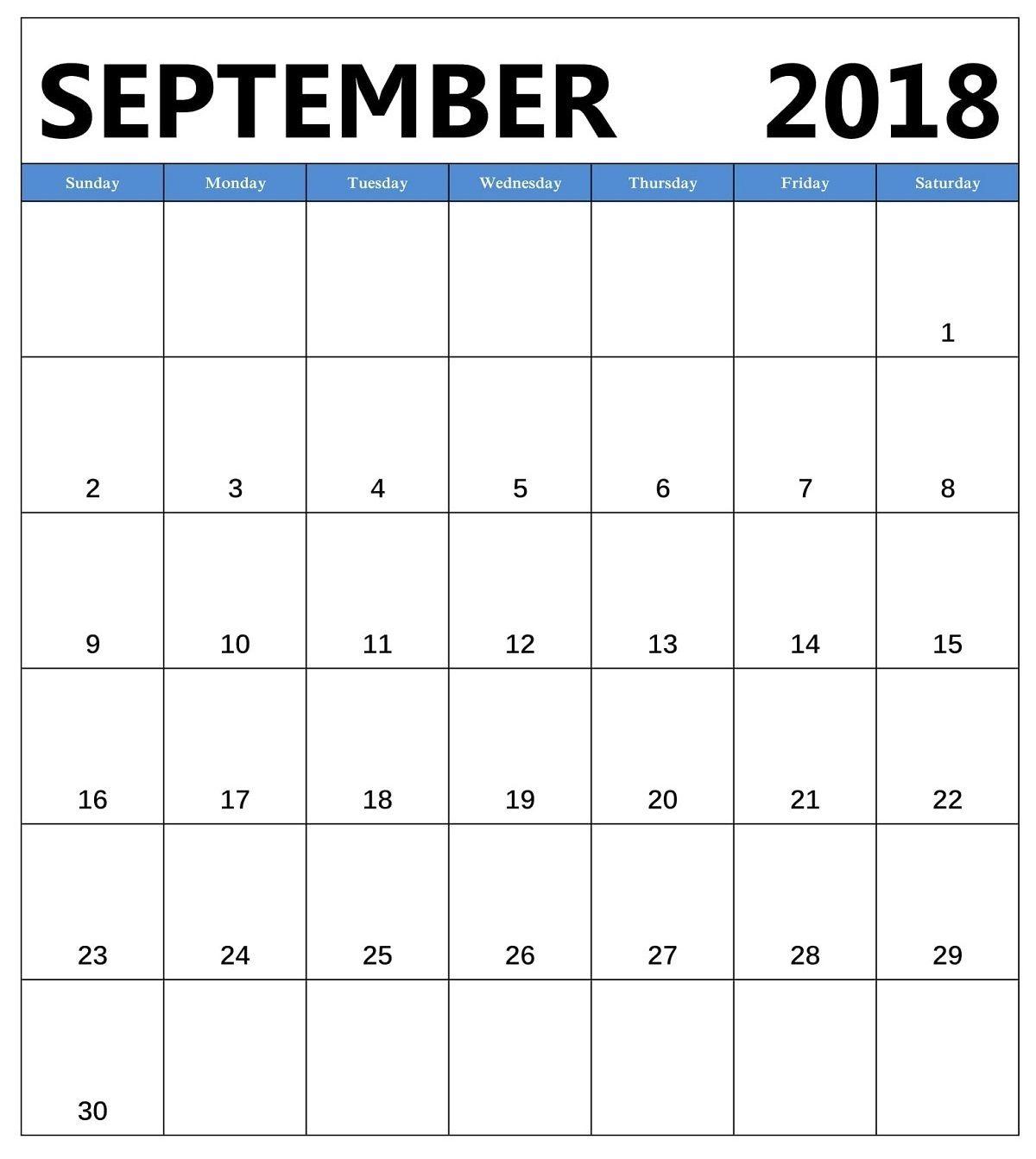 Free September Calendar A4 Size Landscape Vertical