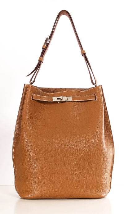 ad0767dd4765 Hermès Tan Togo Leather 28cm So Kelly Bag BRAND NEW style - and So chic!  This is the ultimate tote style bag. The SO KELLY is the updated