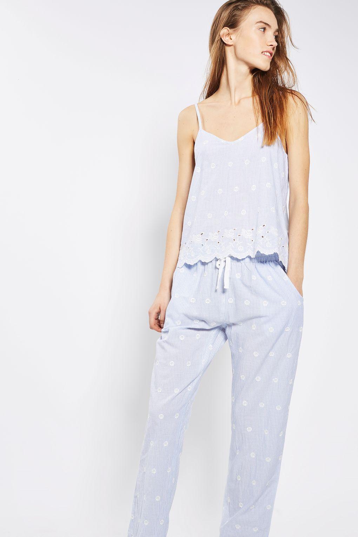 Oxford Stripe Pyjama Trousers Stylish Pajamas Pajamas Women