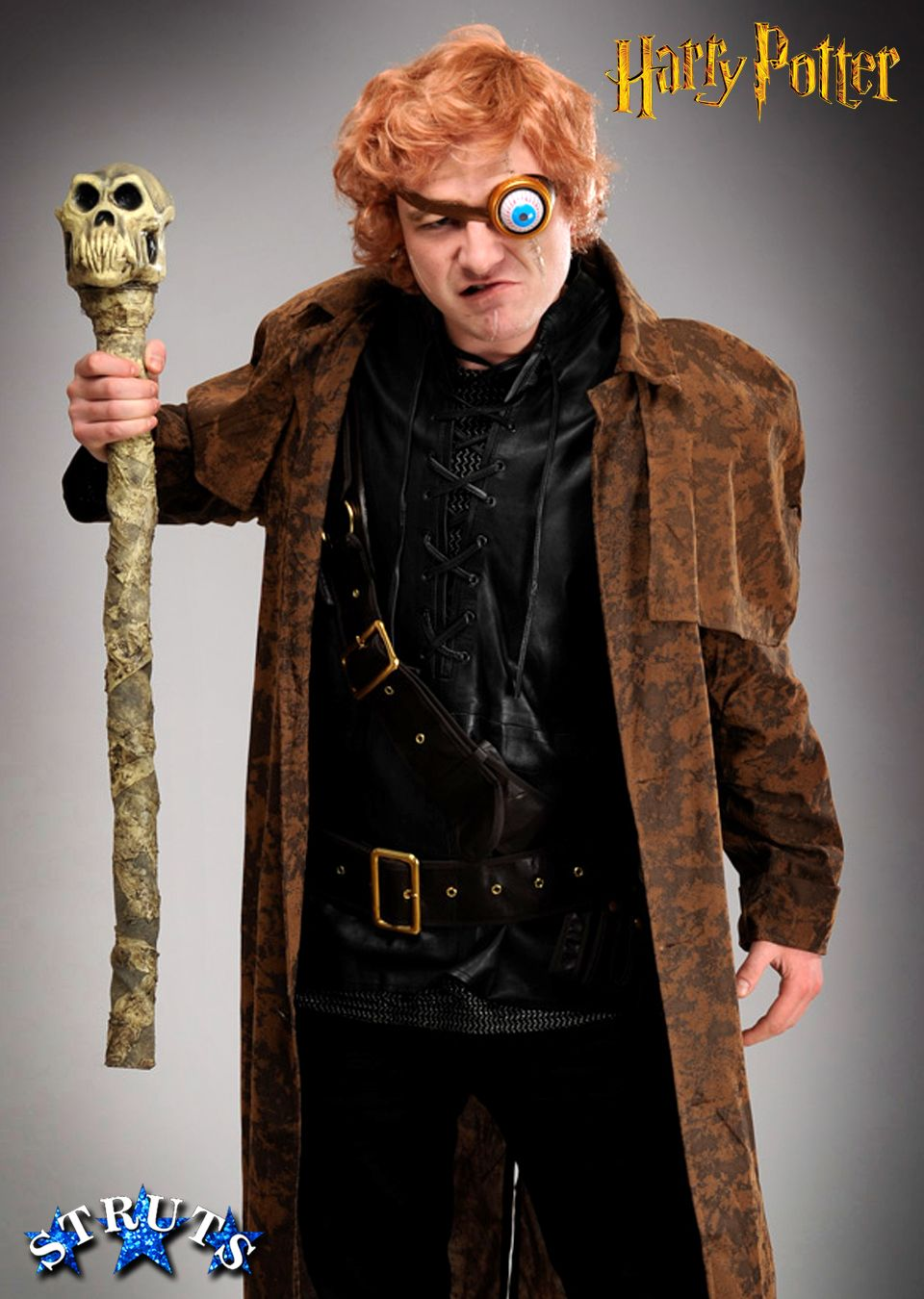 Deluxe Mad Eye Moody Costume from Harry Potter, includes