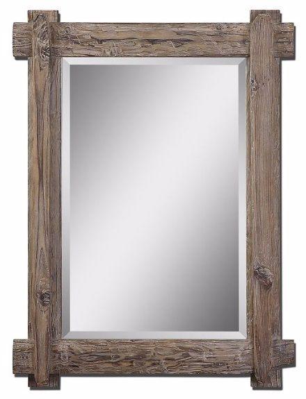Claudio Wood Wall Mirror | Walnut stain, Wood mirror and Wood walls