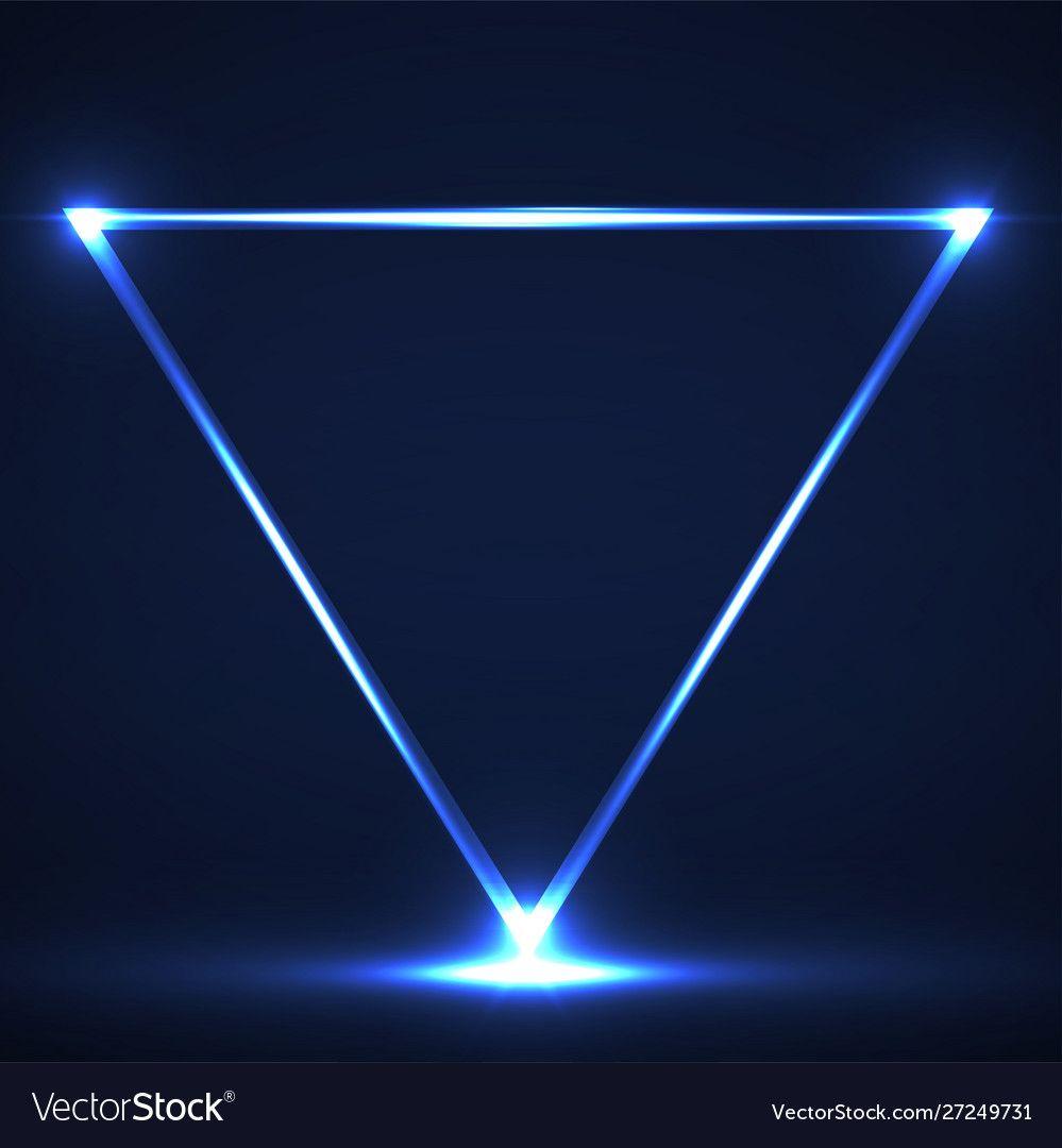Background Neon Triangle Wallpaper