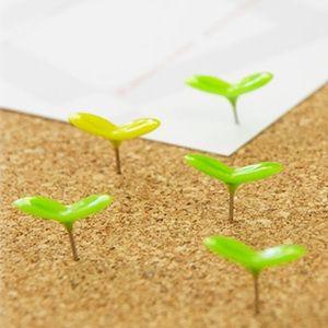 Green Pins - Sprout Push Pins