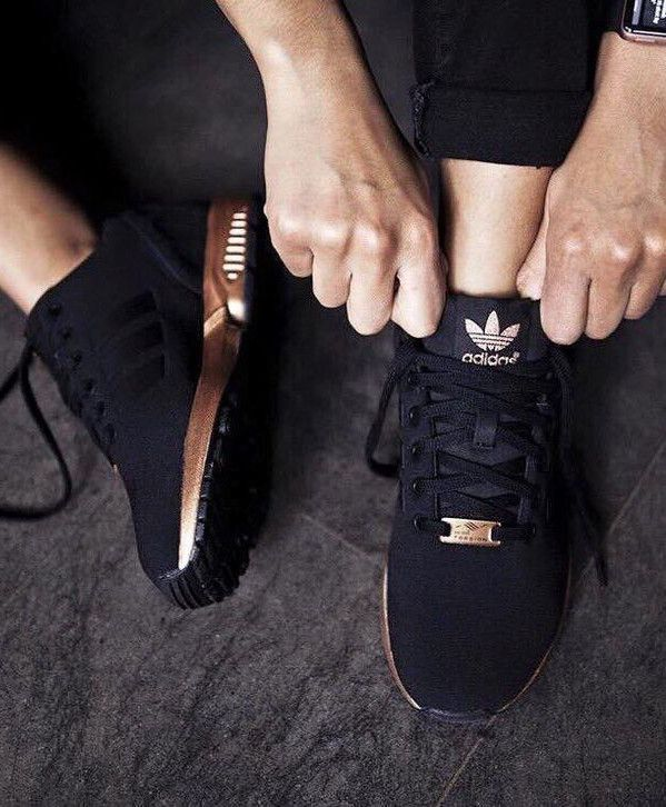 black rose gold Adidas | Black adidas shoes, Adidas shoes