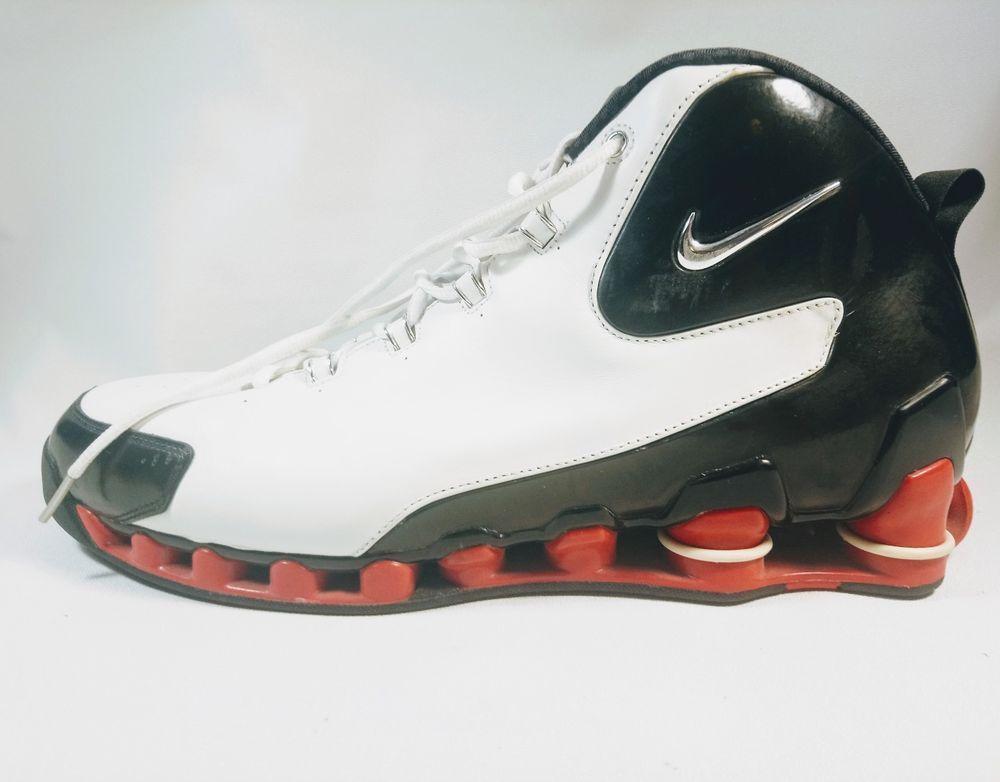 3ac21ced582a Nike Shox VC III 3 White Vince Carter 307111 102 Sz 17