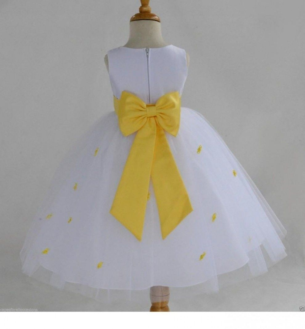 Best 30 Beautiful Yellow And White Wedding Dresses Flower Girl