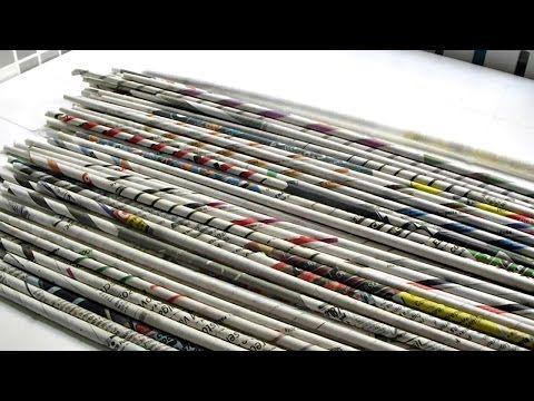 www.canudosdejornal.blogspot.com -  canudos de jornal, máquina - YouTube