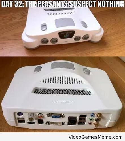 3f072d93ec9e651f71c07058d79b821b nintendo 64 pc case www videogamesmeme com memes nintendo,Nintendo 64 Meme