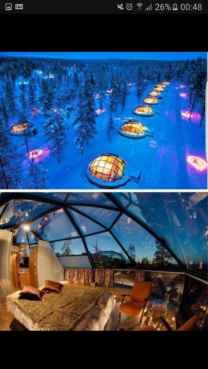 Glass Igloos To Watch The Northern Lights In Finland