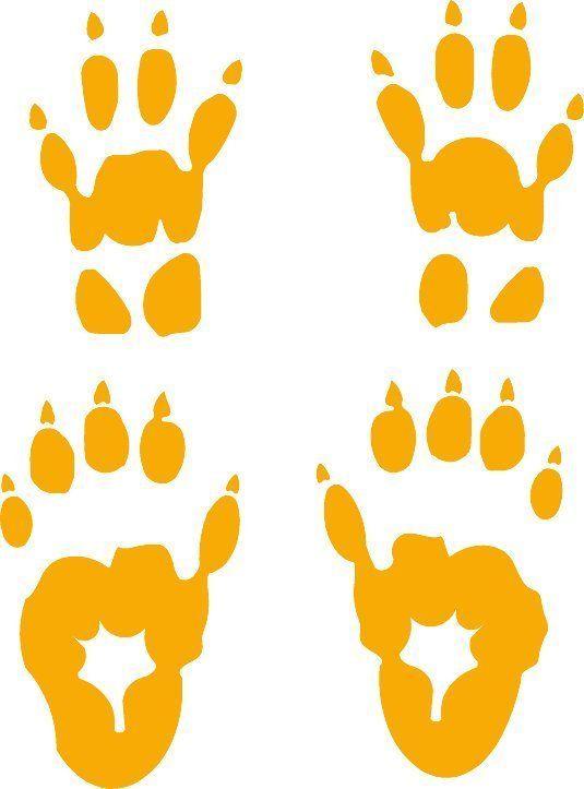 Details About Woodchuck Track Groundhog Footprint Sticker Marmot