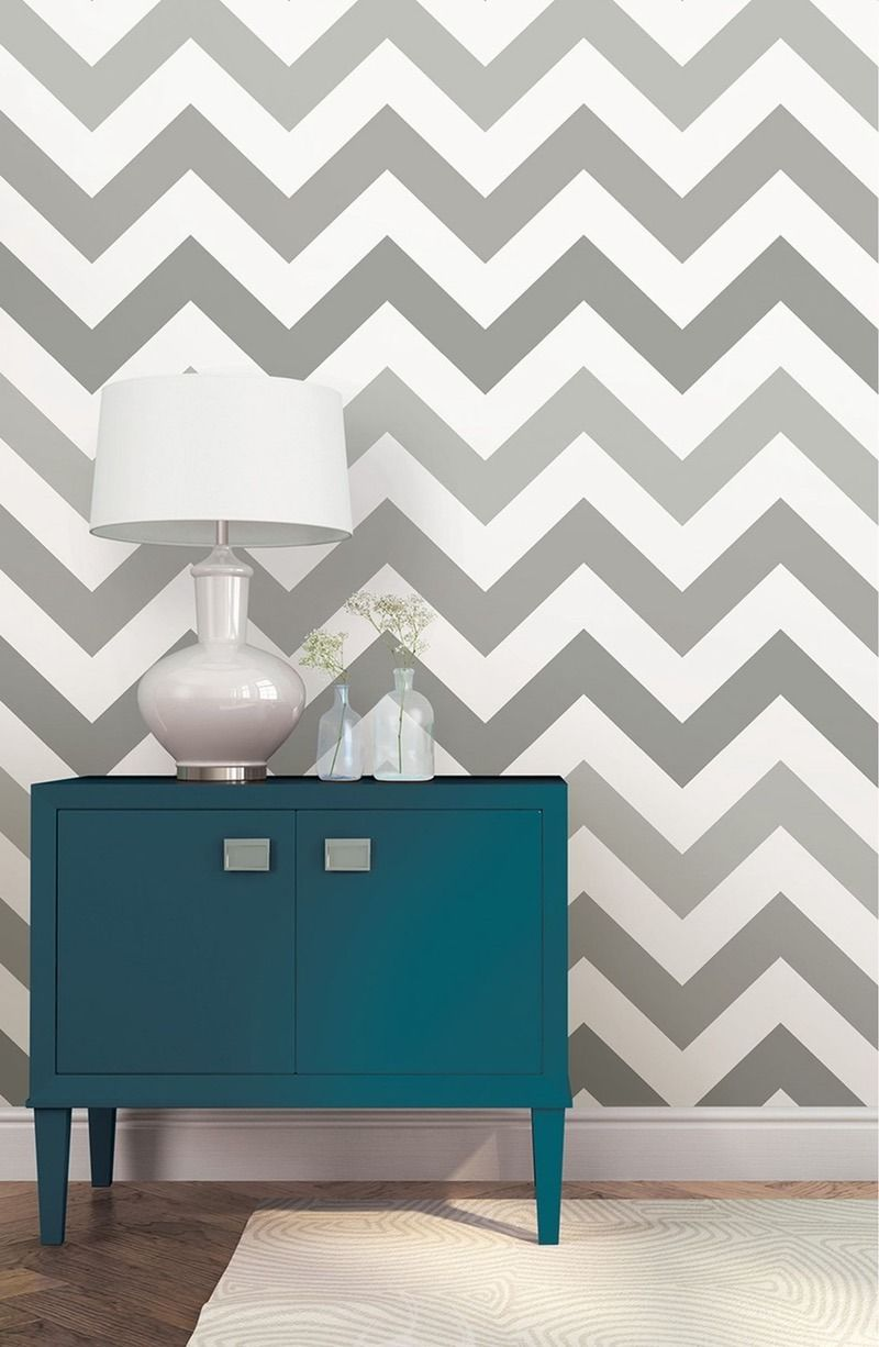 15 Removable Wallpapers Renters Can Put Everywhere Zig Zag Wall Home Home Decor
