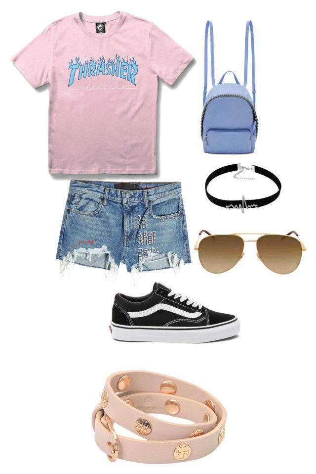 """""""skater girl outfit."""" by kmdudley on Polyvore featuring WithChic, T By Alexander Wang, Vans, STELLA McCARTNEY, Tory Burch and Yves Saint Laurent"""
