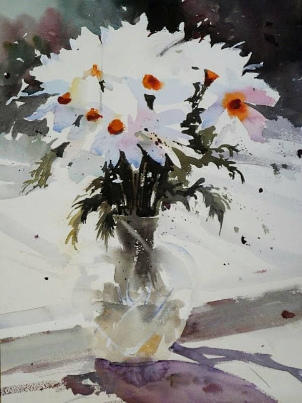 Ian Michael Mcmanus Uk Flower Study Watercolour Watercolor