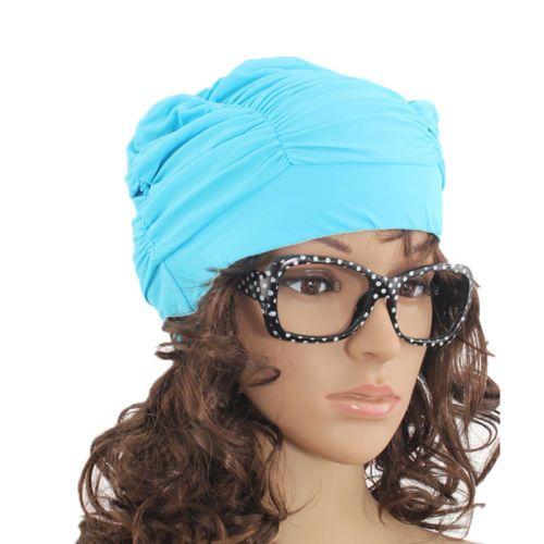 392460929a4 Elastic  swimming cap hat for  dreadlocks long hair summer pool sea ...