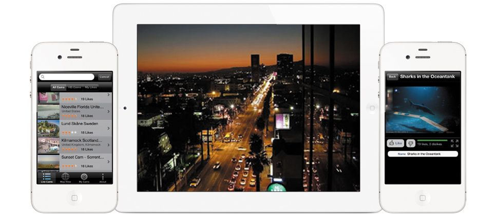 http://vinternete.com/ - watch 4000 public street webcams in our World Live Cams app for iPhone, iPad and Windows Phone!