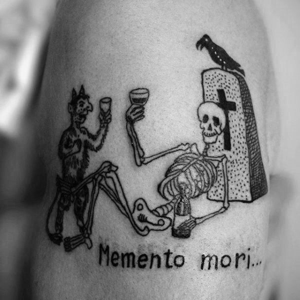guys memento mori upper arm graveyard scene tattoo inkdeas pinterest tattoo tattoo. Black Bedroom Furniture Sets. Home Design Ideas