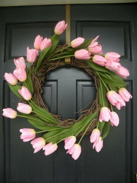 Wreath Idea Box by Jeanine | Tulip wreath, Wreaths and Easter