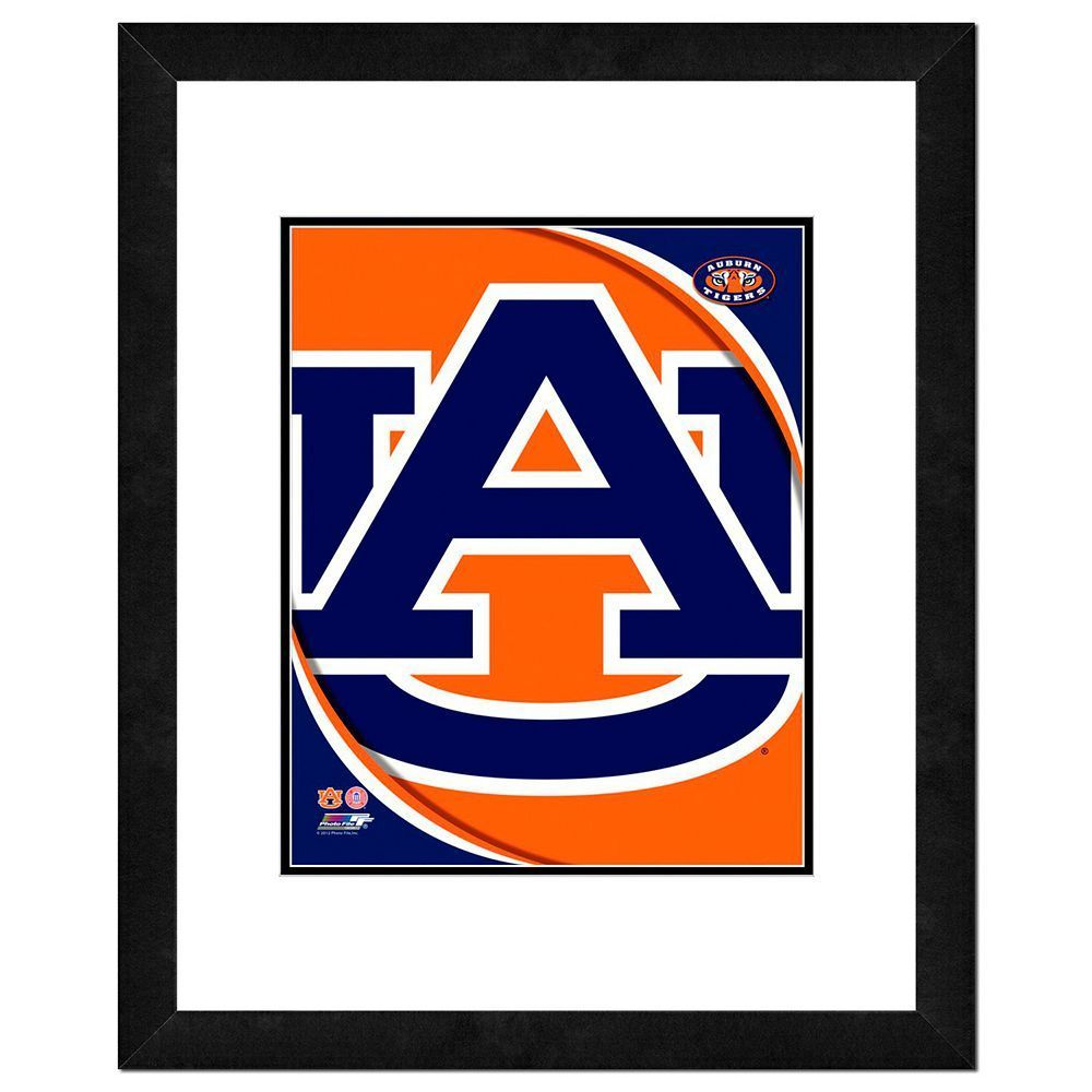 auburn tigers team logo framed 11 x 14 photo multicolor auburn rh pinterest co uk Auburn Tigers Logo Auburn Desktop Logo
