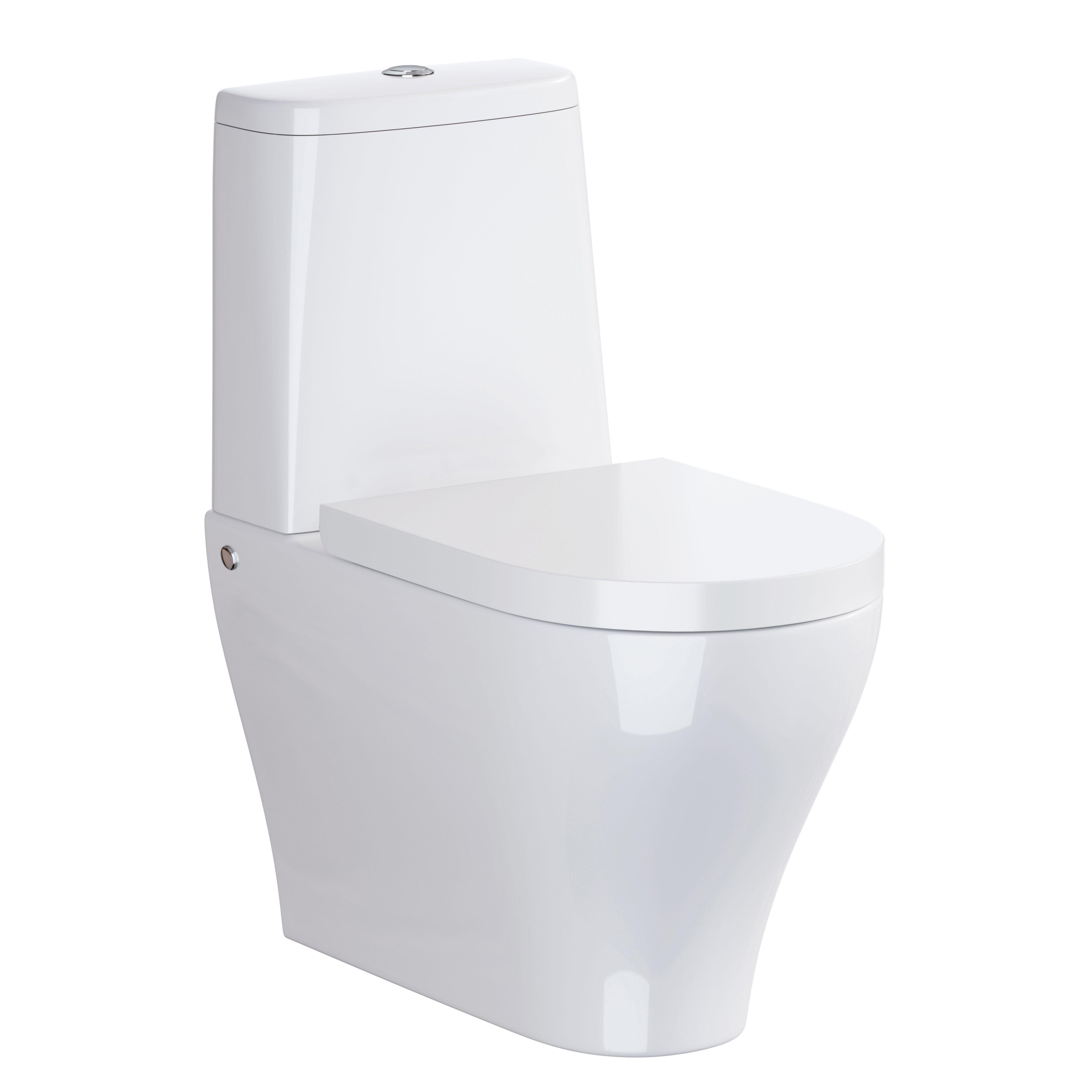 Magnificent Cooke Lewis Alassio Close Coupled Toilet With Soft Close Machost Co Dining Chair Design Ideas Machostcouk