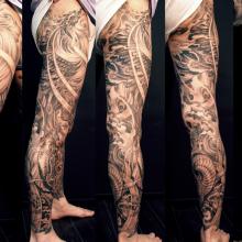 Asian Black And Grey Archives Chronic Ink Leg Tattoo Men Leg Tattoos Leg Sleeve Tattoo