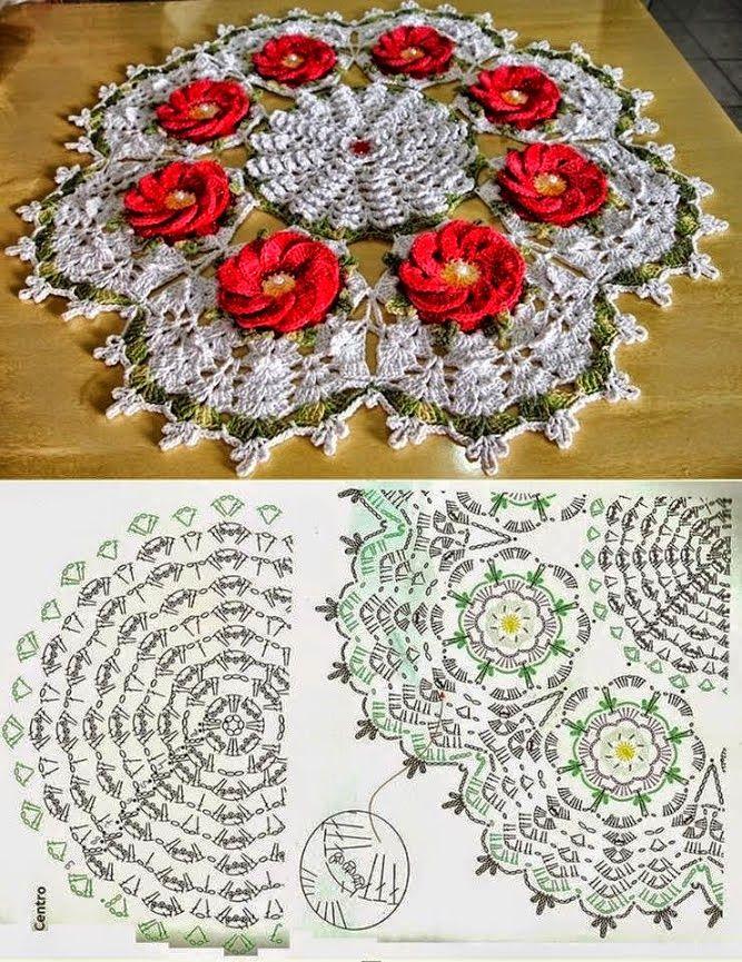 Excepcional Patrón De Crochet Doily Pansy Componente - Manta de ...