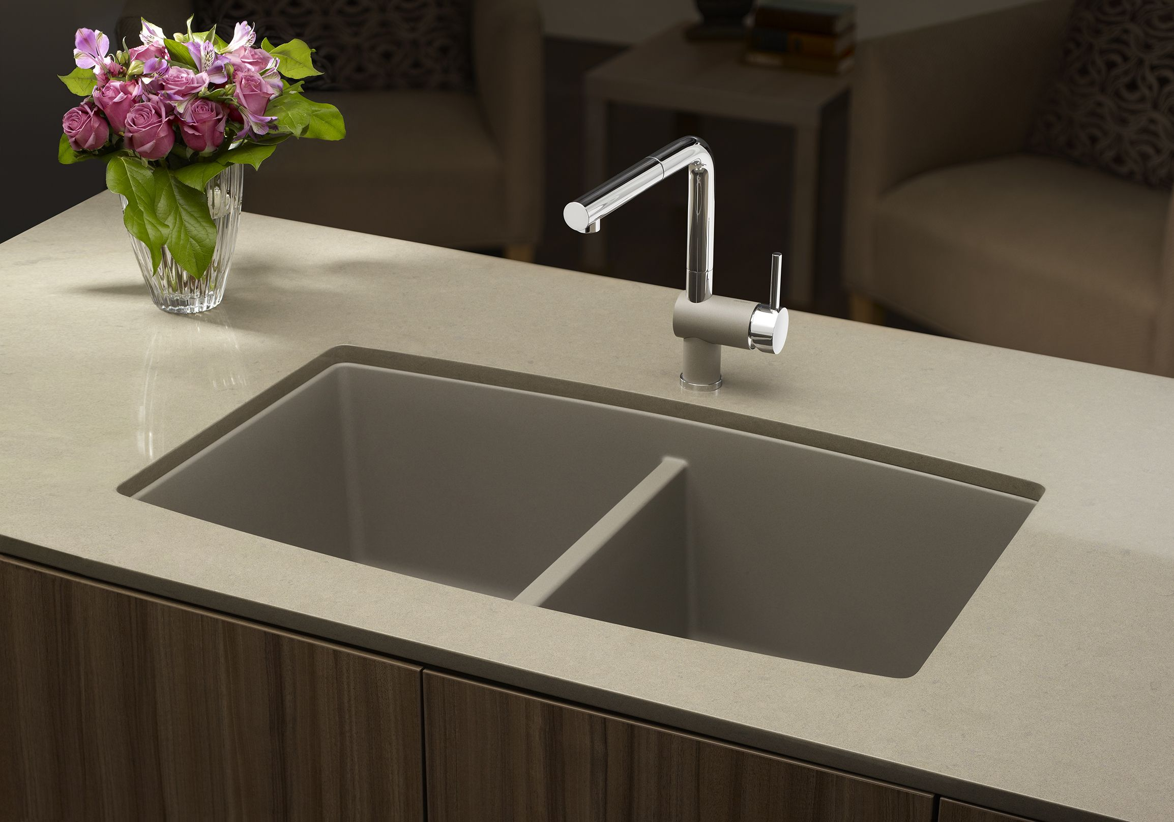 Shop BLANCO Canada BLANCO Performa Silgranit Undermount Double Bowl Kitchen  Sink At Loweu0027s Canada. Find Our Selection Of Kitchen Sinks At The Lowest  Price ...