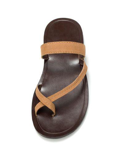 40e6ef5ce669e LEATHER SANDAL - Shoes - Man - ZARA United States