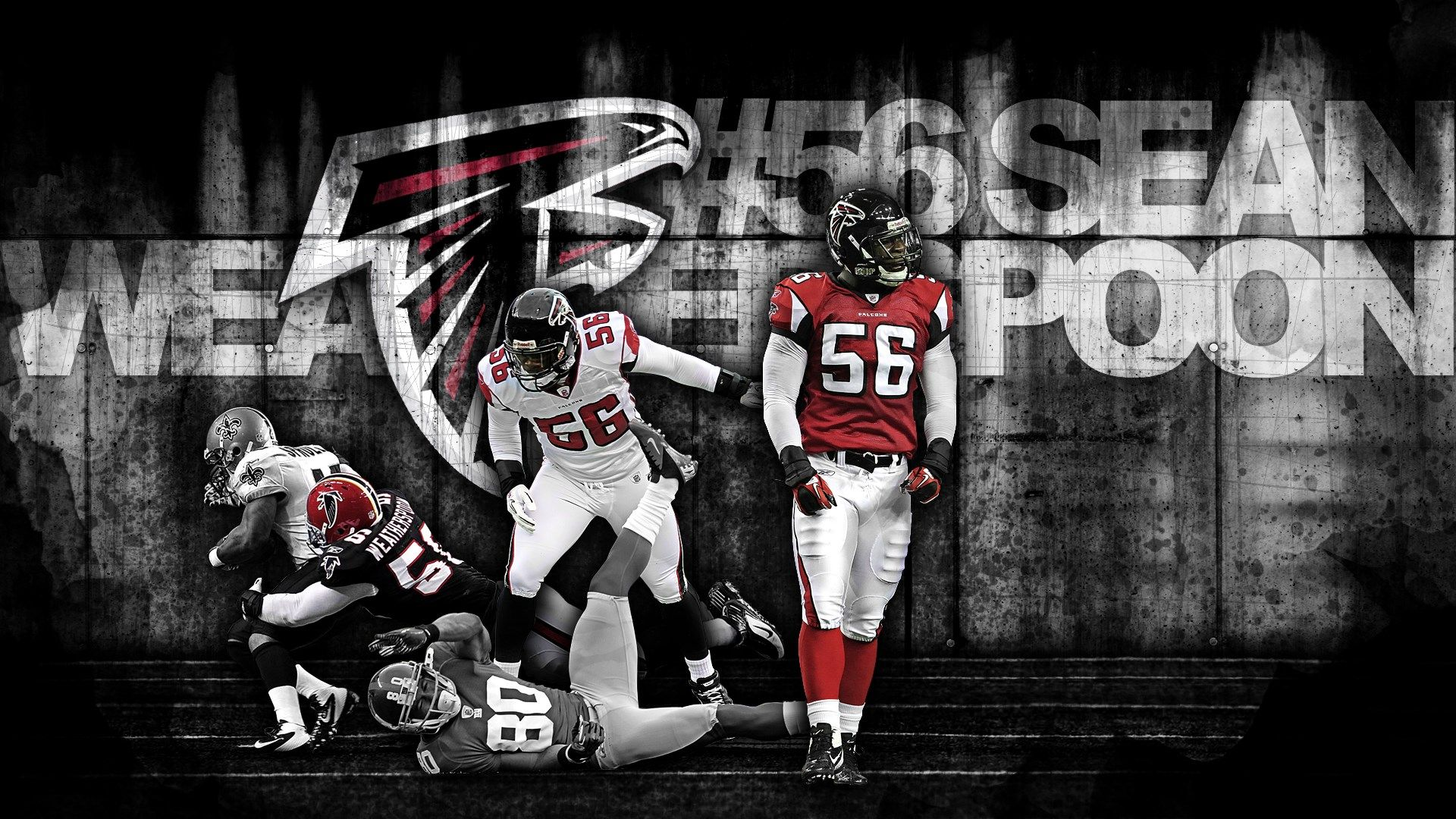 Atlanta Falcons Desktop Wallpapers Sean Weatherspoon By Crebagger