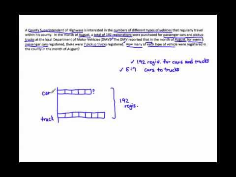 6RP3  Solve Word Problems Using Tape Diagrams   Math