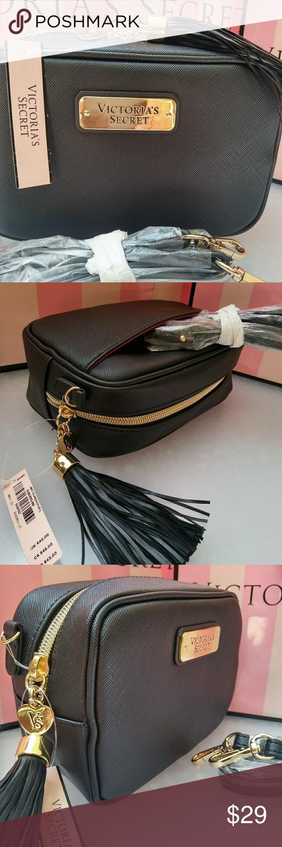 51d6be5a98b9 VS VICTORIA SECRET MINI CROSSBODY BAG Tassel NEW WITH TAGS. Super cute mini  crossbody bag   tassel . Black color. 7