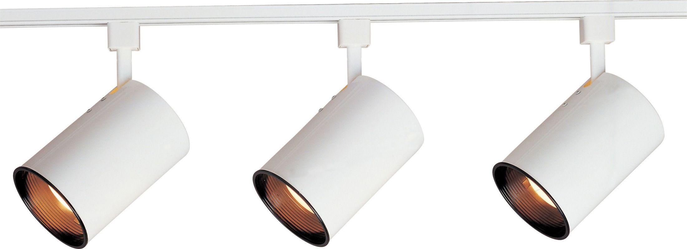 Maxim 92315 Track Collection 3 Light Track Lighting Kit White Indoor ...
