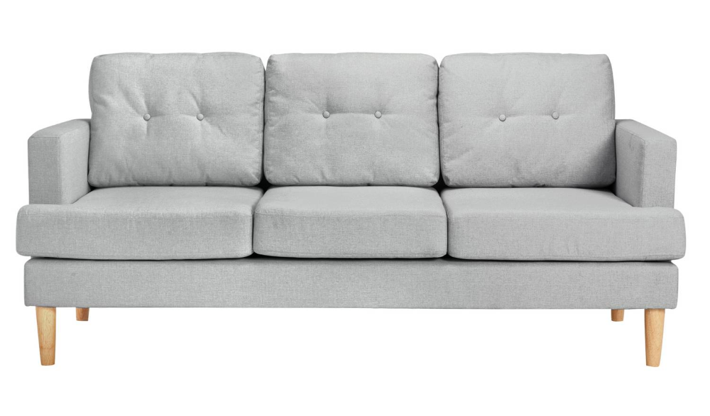 Buy Argos Home Joshua 3 Seater Fabric Sofa Charcoal Sofas Fabric Sofa Argos Home Light Gray Sofas