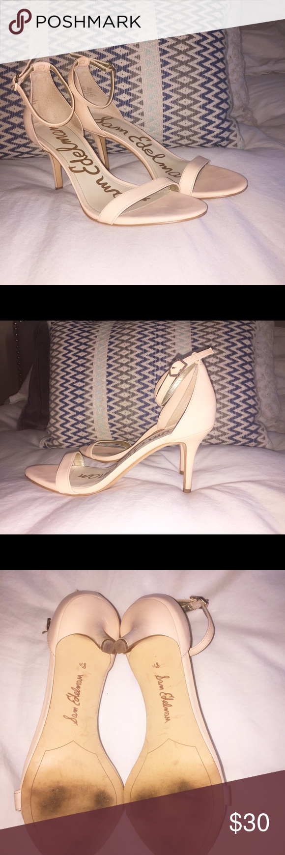 60e6569c76f1 Sam Edelman Patti Soft Nude Talco Kid Leather. Worn once for wedding  (literally less than 12 hours). I ve priced to sell so  25 is firm.