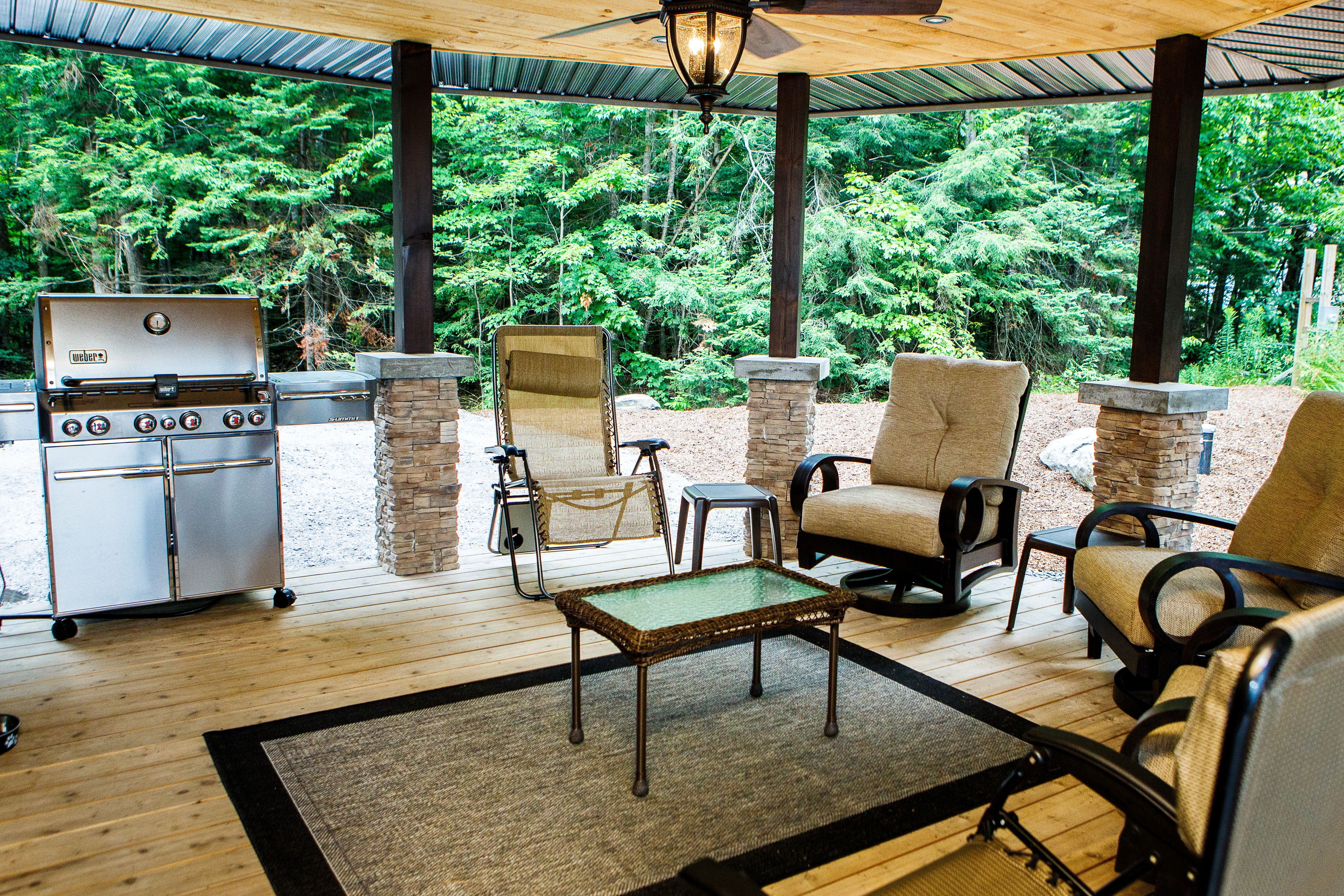 Covered Outdoor Living Space - Custom Cottage - Cottage ... on Beautiful Outdoor Living Spaces id=98048