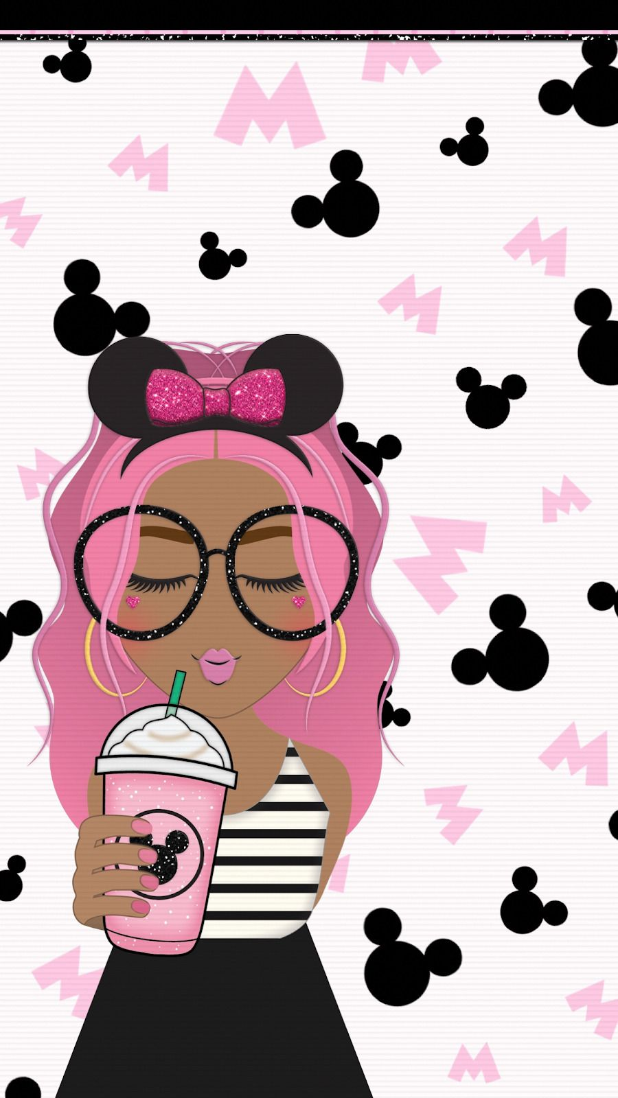 Wallpapers Xo Nikkix I Love These Cute Wallpapers Made By Cute Disney Wallpaper Starbucks Wallpaper Mickey Mouse Wallpaper
