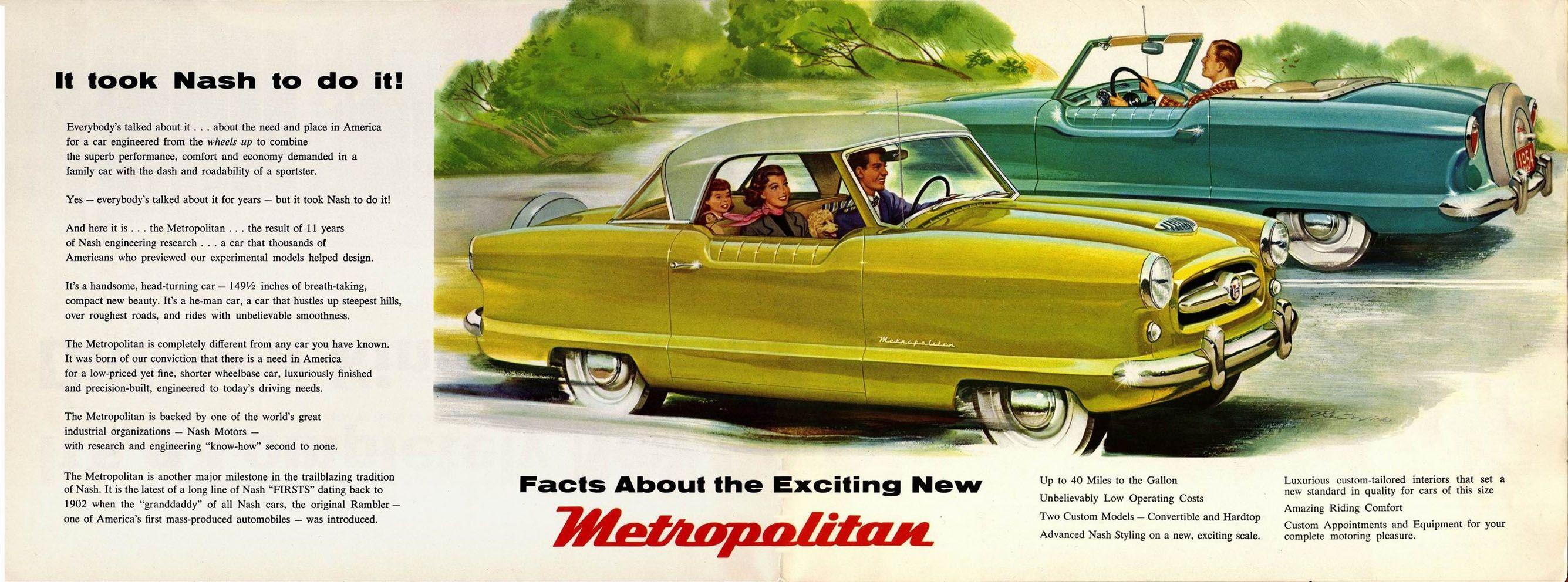 1954 Nash Metropolitan | Nash ..Car Brochures | Pinterest | Cars