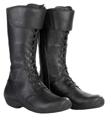 Cassidy's fave Alpinestars Stella Armada Waterproof Black Boots with steel toecaps!