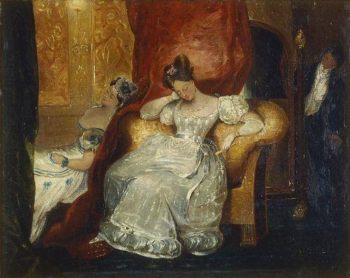 La Loge - Jeunes Femmes Assisesu201d du0027Achille Devéria (1800-57) à l