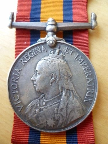 Queens South Africa medal Coldstream Guards died Oct 1915 from Durham
